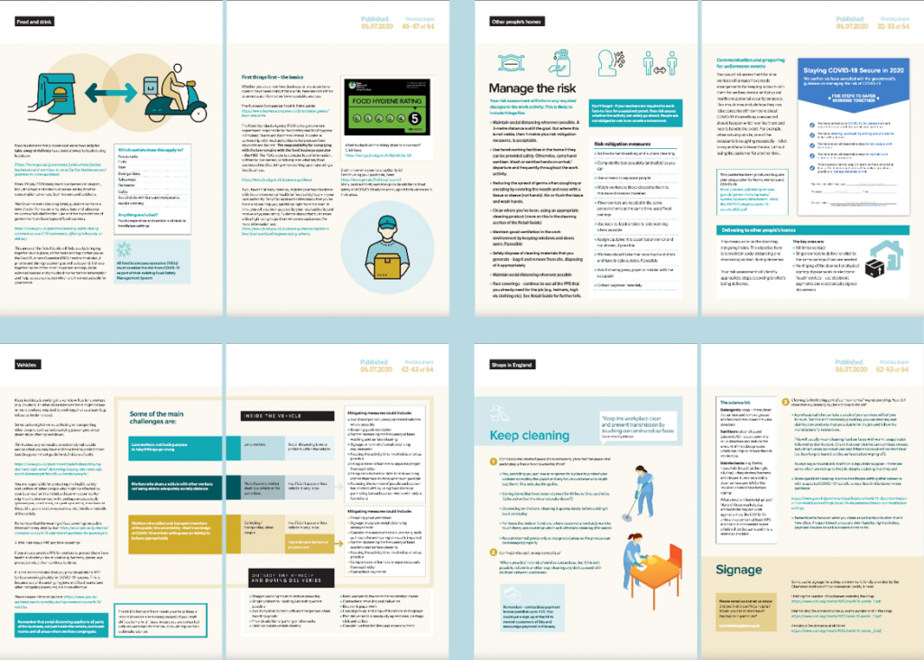 Spreads from an Annex to Working safely during coronavirus (COVID-19) | A retail guide